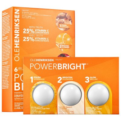 Ole Henriksen Power Bright: This three-step skincare system scrubs, brightens and cleanses the skin, diminishing the appearance of fine lines and wrinkles.