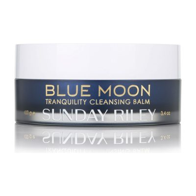 The Makeup Remover: Sunday Riley, Blue Moon Tranquility Cleansing Balm Best  For: Multitasking makeup removal  This soft, sugar-based cleansing balm gently removes impurities without stripping natural oils. The therapeutic essential oils of blue tansy, chamomile and beeswax calm dry and inflamed skin, while cocoa butter moisturises and tangerine tones. The balm can also be used as a hydrating facial mask