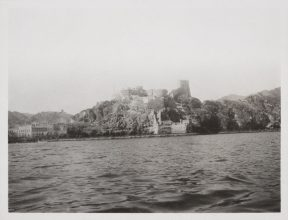 Jacques Cartier's trip in 1911. Muscat Harbour with Fort Al-Jalali in the background.