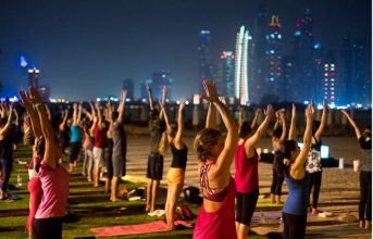 What: Fullmoon yoga, Fairmont The Palm, Dubai When: May 13, 8pm    Experience an evening under the stars whilst you enjoy a 90 minute full moon yoga and meditation session. The yoga session will be located on the resort's white sand beach for one hour followed by 30 minutes of meditation in a relaxing setting with stunning views of Dubai Marina Skyline.