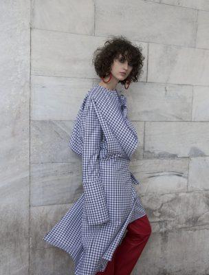 Dress, GABRIELE COLANGELO   trousers, FABIO QUARANTA   earrings, MARNI