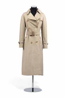 Burberry trench coat owned by Hepburn.
