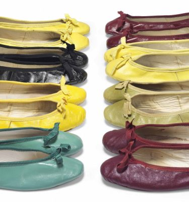 Selection of ballet pumps owned by Hepburn.