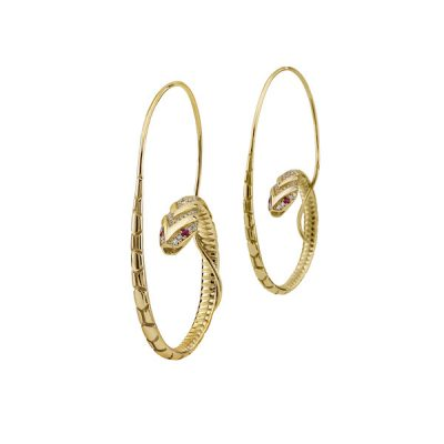 Azza Fahmy, The Snake Hoop Earrings