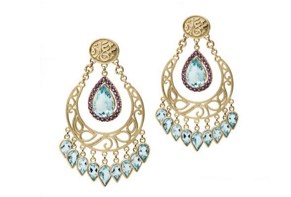 Azza Fahmy, Happiness Earrings