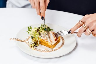 Bistrot Bagatelle prides itself on fresh ingredients and clean flavours, as well as a generous side order of 24-karat gold with diamonds.