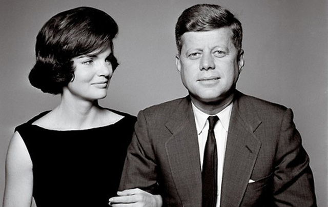 Jackie Kennedy pictured alongside her husband and then President John F. Kennedy