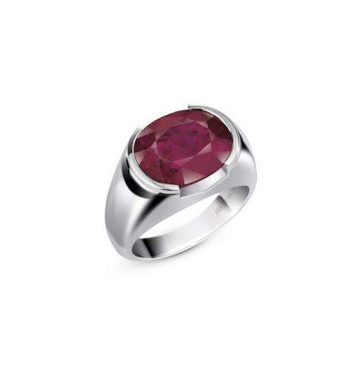 Divine Burmese Sunset: Ring, 319.41-carat ruby, 4.74-carat diamonds and 18-karat white gold.