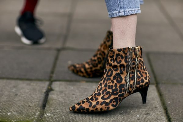 Cheetah Girls: Look to joyous prints such as mustard-cheetah emblazoned on leather or hand-painted begonias to amp the effect of your boot-game. When pairing printed booties ensure that the style of your ensemble is kept to an absolute minimal.