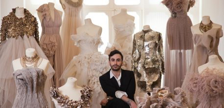 Go to Lebanese Designer: Krikor Jabotian, for his craftsmanship and romantic, delicate touches.
