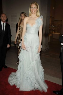 2008: Schiffer made headlines after attending the 2008 Met Gala Red Carpet event in this fairytale-like light blue one shoulder formal prom dress.