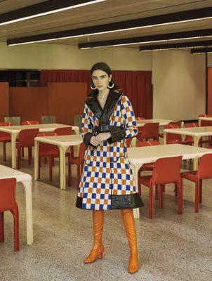 Coat, MARNI | boots, LOUIS VUITTON | earrings, SPORTMAX | belt, AQUILANO RIMONDI