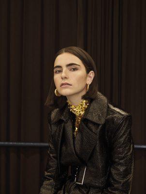 Coat, MUGLER | top, MSGM | earrings, CÉLIN