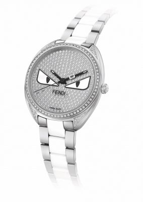 The Momento Fendi Bug Diamond bracelet timepiece's attitude-packed monster may not fall under the classic animal motif category, but it sure has head's turning with its vicious charm. A fun and model piece, the design is particularly popular with younger watch aficionados.