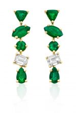 Kimberly McDonald is a New York City-based jeweller known for designs that feature emeralds alongside geodes, agates, opals and diamonds. These gold-set drop earrings are truly beautiful.