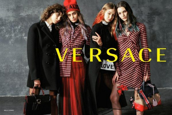 Versace's autumn/winter17 ad campaign, shot by Bruce Webe