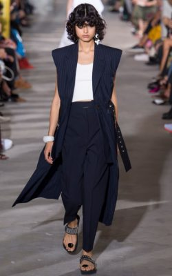 3.1 Phillip Lim: It was back to basics for Phillip Lim who sent out a minimal but chic collection that included sleeveless trenches, peplum frilled tanks and slouchy trousers. Made up of black, white, red, beige and navy these pieces will slot in to any woman's wardrobe with complete ease.