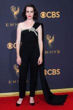 Claire Foy in Oscar de la Renta.