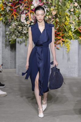 Jason Wu: Jason Wu's talent for creating uncomplicated and highly wearable clothes for today's woman shone through in his spring collection with a careful mix of candy-striped boyfriend shirts, sleeveless trench coats and ruched dresses.