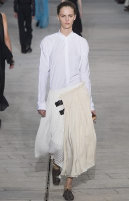 Jil Sander: Luke and Lucie Meier got off to a promising start at Jil Sander where they revisited the German brand's roots by exploring sander's signature white shirts. Minimal yet effective, the collection was a study in relaxed and uncontrived elegance.