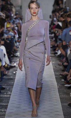 Max Mara: Sleek, no-nonsense clean lines brought polished modernity to Ian Griffith's spring/summer collection for Max Mara. Griffith's clothes offer practicality and sophistication as well as the ability to transition from the boardroom to the bar – a must for today's busy working woman.