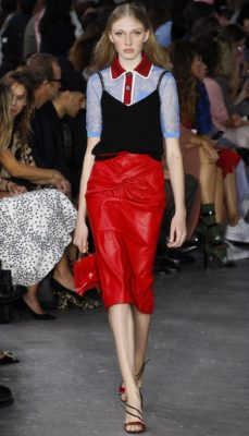 No. 21: Alessandro Dell'Acqua's latest showing for No.21 was one of his strongest yet. The designer created an edgy uptown vibe with embellished pencil skirts, slinky slip dresses and preppy button up shirts which he punctuated with slightly sportier looks.