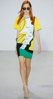Oscar de la Renta: There was plenty of youthful energy and optimism in the air at Oscar de la Renta where colourful pop art influences played out in the form of paint splatters, oversized hearts, scrawled logos and abstract prints. Laura Kim and Fernando Garcia are doing a fantastic job of opening the storied house's doors to a new generation of clients while crafting the elegant and timeless gowns that ODR's established clientele keep coming back for each season.