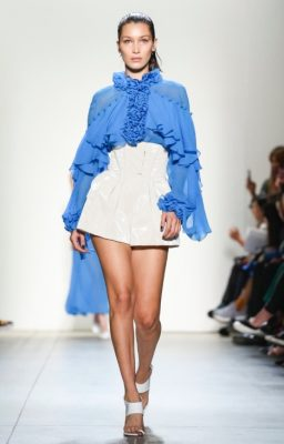 Prabal Gurung: Like his cast of both high profile and diverse models, Prabal Gurung's runway offerings ensured his customers will have plenty to choose from next summer. Sheer summer dresses in mini, midi and maxi cuts were shown alongside lightweight summer knits, trenches and structured shorts.
