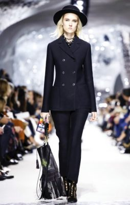 The Suit | Tailored with unique and traditional expertise, Dior is well known for it's ultra feminine jackets and stylishly accentuated silhouettes. Spring/summer proves to be no different, with a collection brimming with navy-blue, timeless suits that are appropriate for any occasion