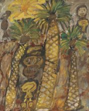 Jean Dubuffet, Palmiers Aux Bedouins (Palm Trees with Bedouins), 1948.