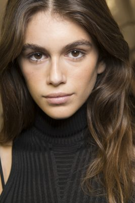 Isabel Marant: Natural beauty reigned supreme at Isabel Marant. Hairstylist Damien Boissinot was responsible for the model's tousled tresses while Lisa Butler was the makeup artist behind the lightly bronzed complexions and brushed out brows.