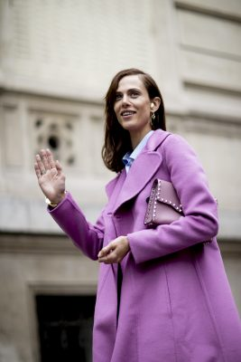 Pink and Purple: Whether donning demure bubblegum pink or slightly punchier grape tones, pink and purple are unexpected and refreshing colours to wear this season. Use these hues to downplay a masculine-cut suit or invest in a shaggy pink faux fur or shearling jacket for the ultimate in off-duty chic.