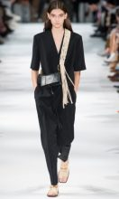 Stella McCartney: It was all about relaxed glamour at Stella McCartney where the British designer showcased her aptitude for unfussy and sophisticated clothes that women want to wear. Highlights included boxy jumpsuits and shirt dresses, athletic parkas and African print trapeze dresses.