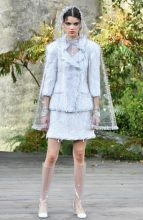 There were plenty of classic tweed pieces within Lagerfeld's repertoire that will cater to the House's loyal clientele.