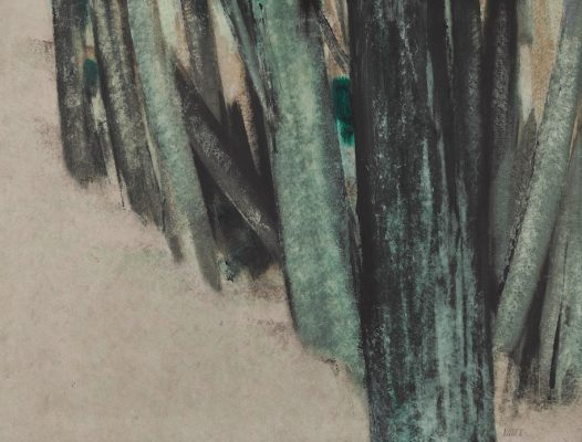 Sohrab Sepehri, Untitled (From the Tree Trunk Series), oil on canvas, 1970.