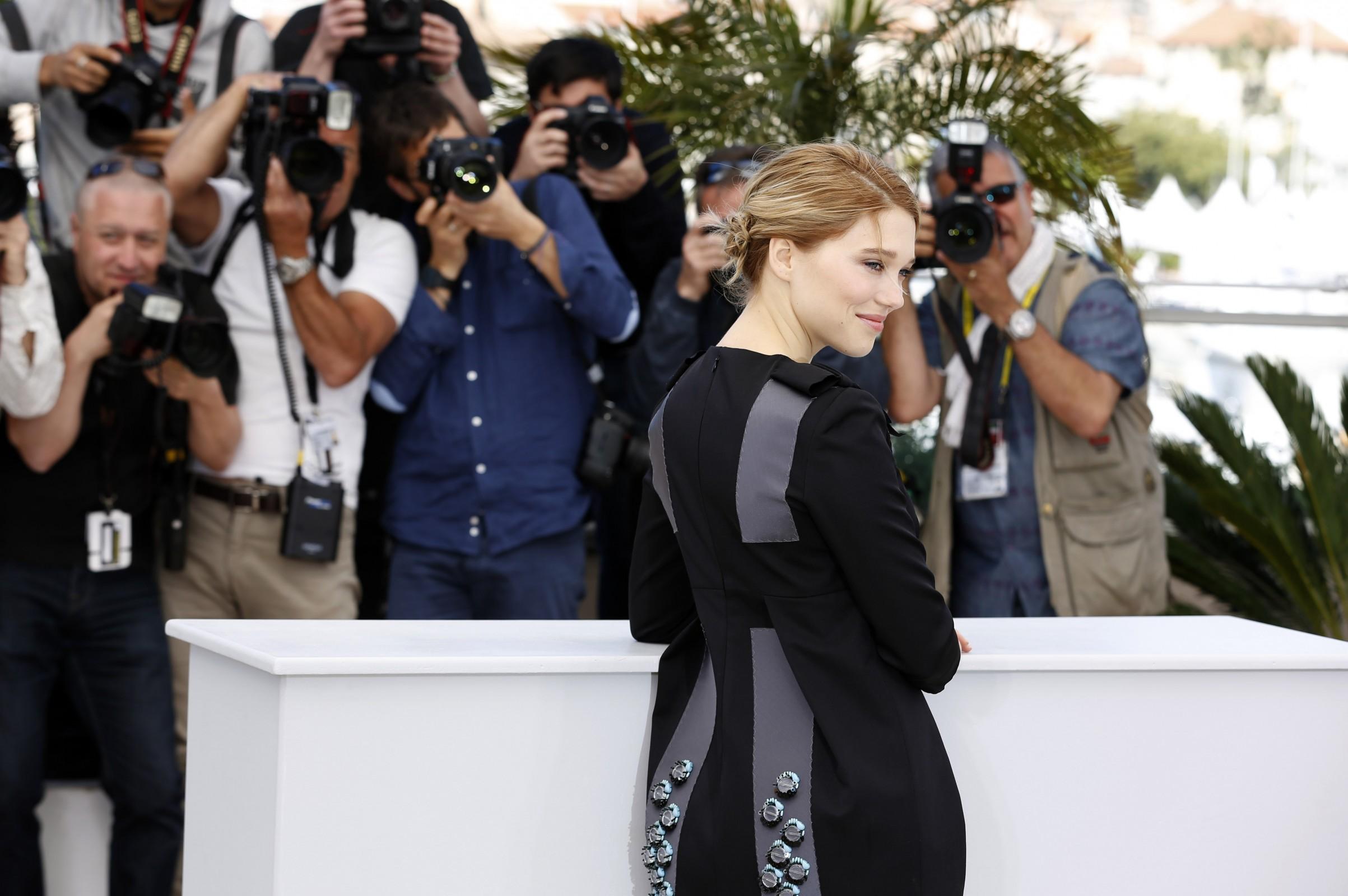 Léa Seydoux's Laid-Back Plait