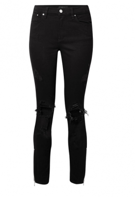 For those who are sporting a youthful and grunge outfit, ideal for coffee or lunch at the weekend, Amiri's thrasher distressed high-rise skinny jeans are as comfortable as they are cool.
