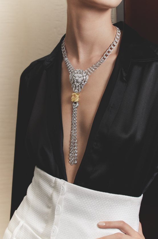 Legendary transformable necklace, CHANEL FINE JEWELLERY. Imagery courtesy of CHANEL FINE JEWELLERY