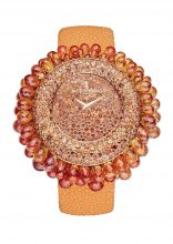 De Grisogono Grappoli Watch with orange sapphires and pink gold case