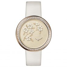 Chanel Mademoiselle Prive Embroidered Camellia Watch