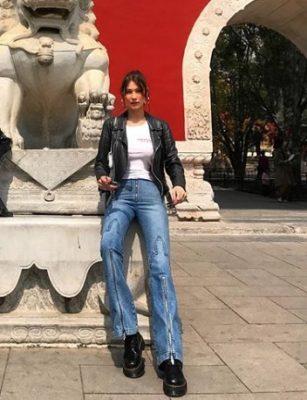 Bella Hadid's travel style