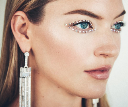 Martha Hunt Swarovski CFDA beauty