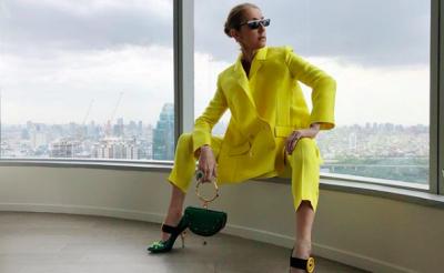 Celine Dion In Maison Rabih Kayrouz