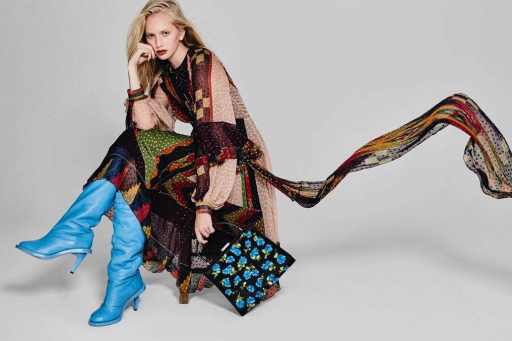 364014beee15 Dress, Etro | Boots, Kenzo | Bag, Michael Kors | Bracelet, Hermes |  Photographed by Guillaume Malheiro