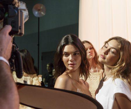 Backstage at Milan Fashion Week