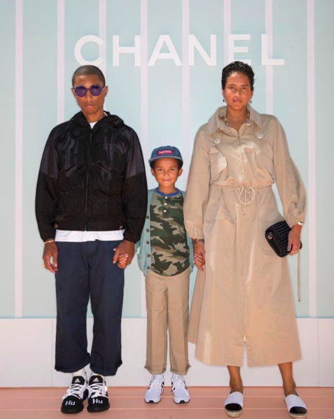 2e8b6eec4 Pharrell Williams and his family at the Chanel cruise 2019 show in Bangkok