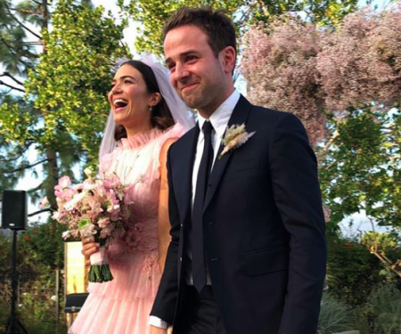 Mandy Moore Marries Taylor Goldsmith In A Pink Wedding Gown