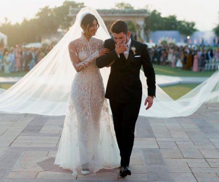 Priyanka Chopra Wears Ralph Lauren Wedding Dress