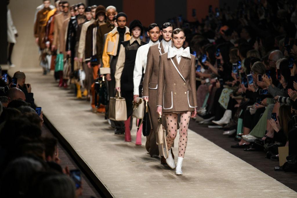 Fendi Pays Tribute To Karl Lagerfeld At Milan Fashion Week