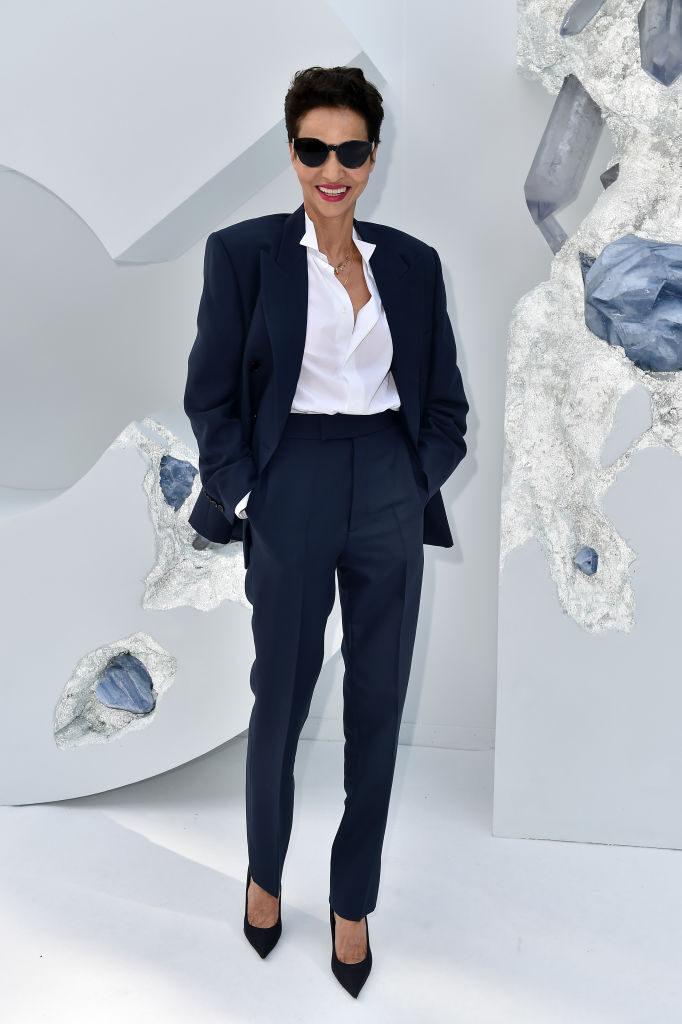 Farida Khelfa in Dior